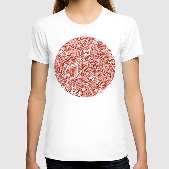 Tribal (red)  T-shirt