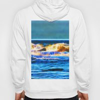 Abstract rolling waves Hoody
