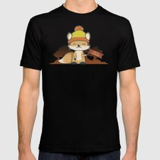 Pretty Cunning Mens Fitted Tee Black SMALL
