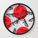 Moths II  Wall Clock