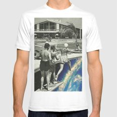 jump SMALL White Mens Fitted Tee