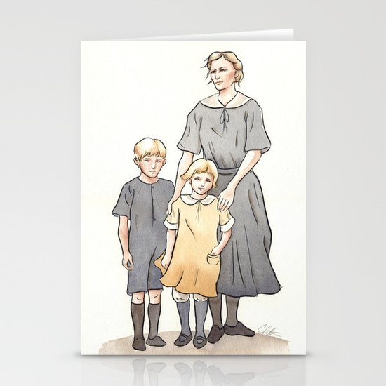 My Family in the 1920s Stationery Card