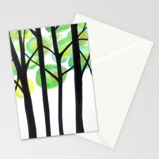 blacks trees Stationery Cards