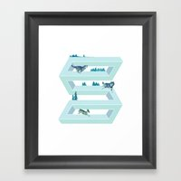 The Impossible Pursuit  Framed Art Print