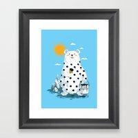Polka Bear Framed Art Print