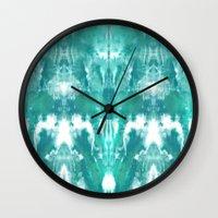 Aqua Blue Lagoon Wall Clock