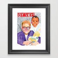 OY VEY! Framed Art Print