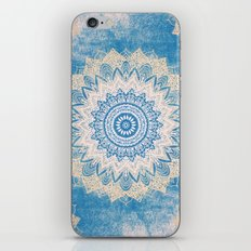 GOLD AND BLUE BOHOCHIC MANDALA iPhone & iPod Skin