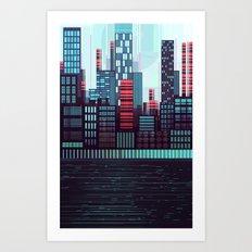 NeoSkyLine  Art Print