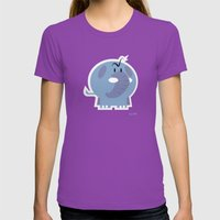 Angry Elefant Womens Fitted Tee Ultraviolet SMALL