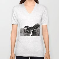 The road below the mountains Unisex V-Neck