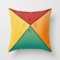 Letter tie Throw Pillow