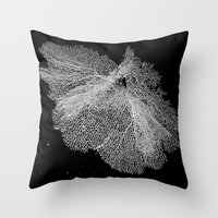 Fan Coral Throw Pillow