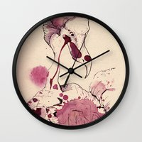 Hoploid Heron Wall Clock