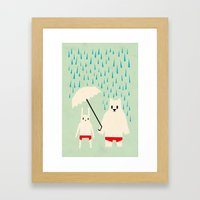 Under your umbrella Framed Art Print