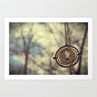Hermoine's Time Turner Necklace Art Print