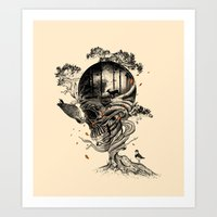 forest Art Prints featuring Lost Translation by nicebleed