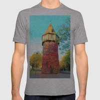Tower In Autumn Mens Fitted Tee Athletic Grey SMALL