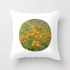 california poppy VIII Throw Pillow