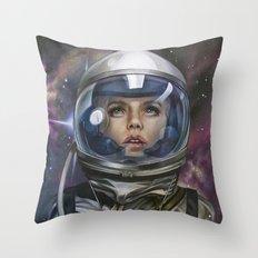 Astro Girl Throw Pillow