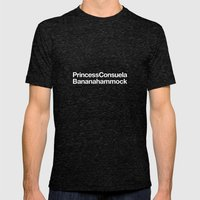 Friends · Princess Consuela Bananahammock Mens Fitted Tee Tri-Black SMALL