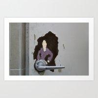 The Door Knob Lady Art Print