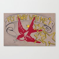 Fly Away With Me! Canvas Print