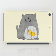 A cat that swallows a bird iPad Case