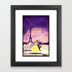 From Paris with love - for iphone Framed Art Print
