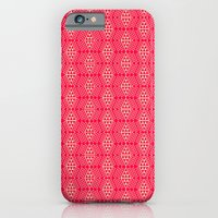 Red + Tan Triangles iPhone 6 Slim Case