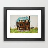Abandoned House in Detroit Framed Art Print