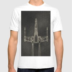 X-Wing Fighter SMALL White Mens Fitted Tee