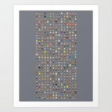 The movie Capsules Art Print