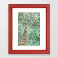 post tropical Framed Art Print