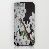 white blossoms iPhone 6 Slim Case