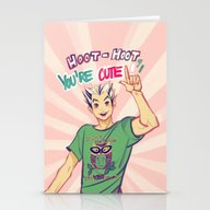 Stationery Cards featuring Hoot Hoot You're Cute! by Viria