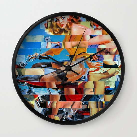 Glitch Pin-Up: Zelda & Zoe Wall Clock