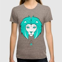 Lion Womens Fitted Tee Tri-Coffee SMALL