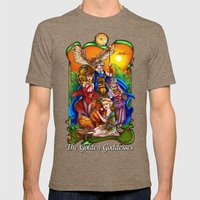 The Golden Goddesses  Mens Fitted Tee Tri-Coffee SMALL