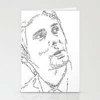 Matthew Bellamy WordsPortrait Stationery Cards