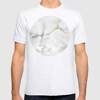 Yellow Cracked Design Mens Fitted Tee Ash Grey SMALL