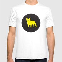 Bulldog Mens Fitted Tee White SMALL