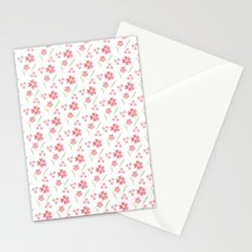 Watercolor floral pattern -small pink flowers Stationery Cards