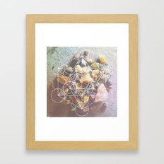 backyard stones Framed Art Print