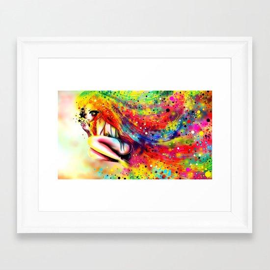 SHE IS RAINBOW Framed Art Print
