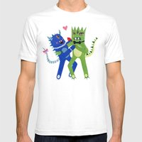 Monster Tango. Mens Fitted Tee White SMALL