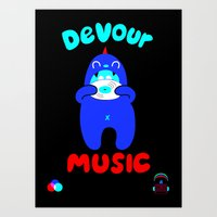 Devour Music Art Print