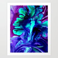 abstract ink Art Print