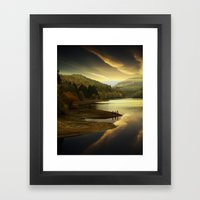 Derwent Sunset Framed Art Print