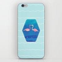 Flamingos in Love iPhone & iPod Skin